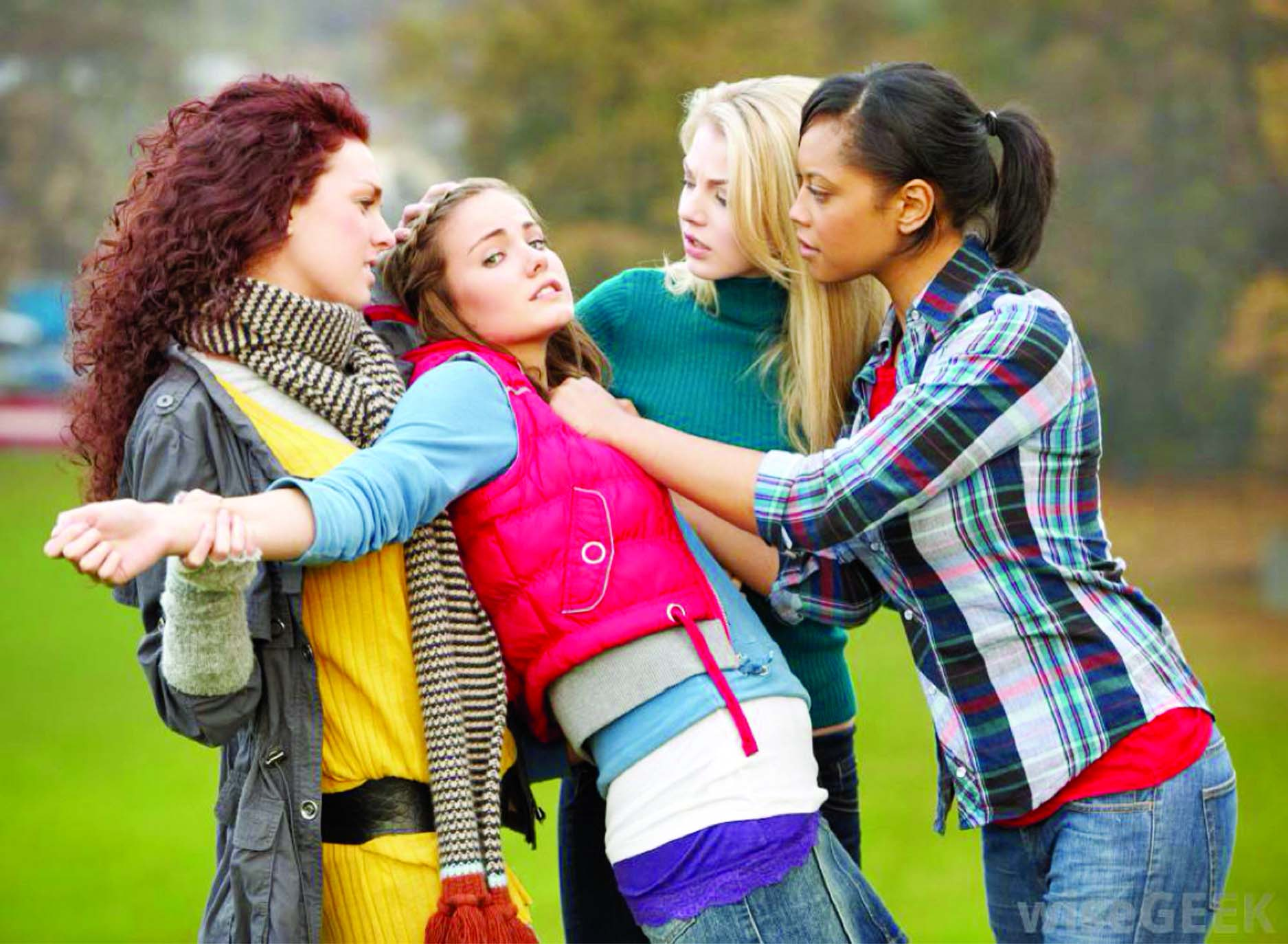 bullied Bullying is unwanted, aggressive behavior among school aged children that involves a real or perceived power imbalance the behavior is repeated, or has the potential to be repeated, over time.