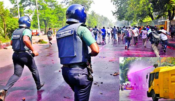 Cops clash with MATS students, 30 injured: Huge traffic jam created: Commuters face immense sufferings