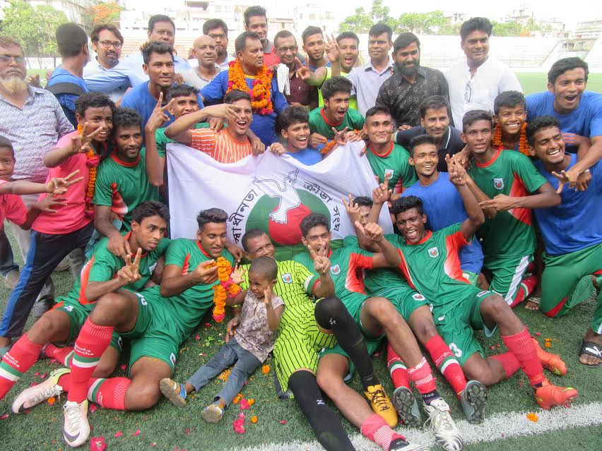 Swadhinata KS clinch 1st Div Football League title