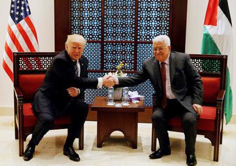 Trump plays up ME peace hopes after talks with Abbas