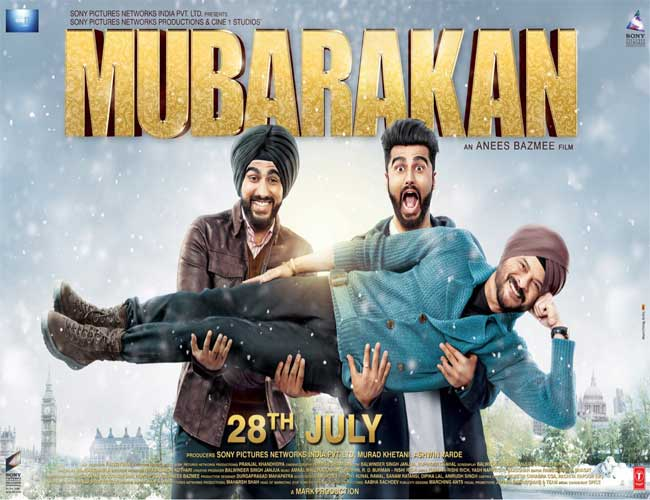 The first poster of Mubarakan is out now
