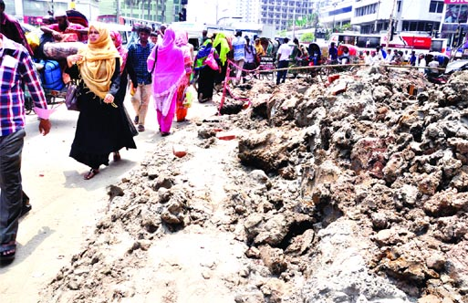 Kakrail area in peril due to digging