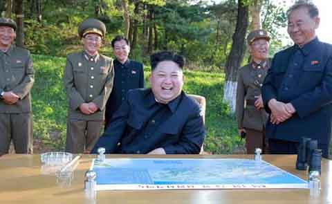 North Korea leader Kim guides test of new anti-aircraft weapon