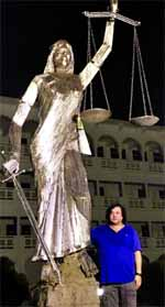 Statue reinstalled in front of SC annex building