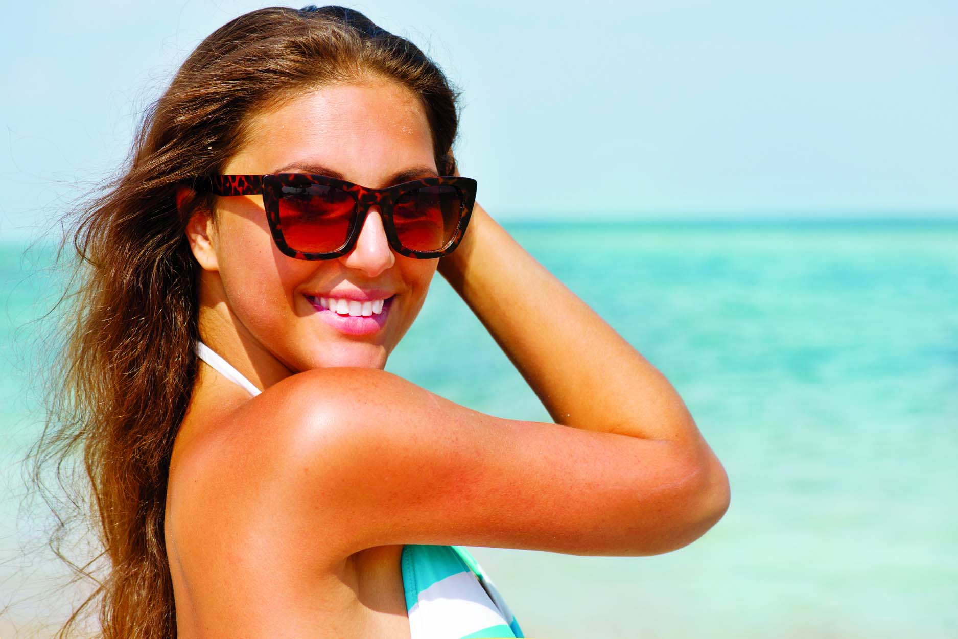 Reverse signs of sun  damage on hair, skin