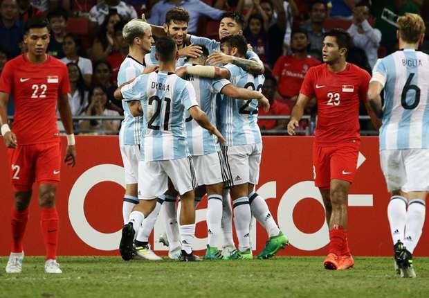 Argentina hammer 6 goals past hapless Singapore