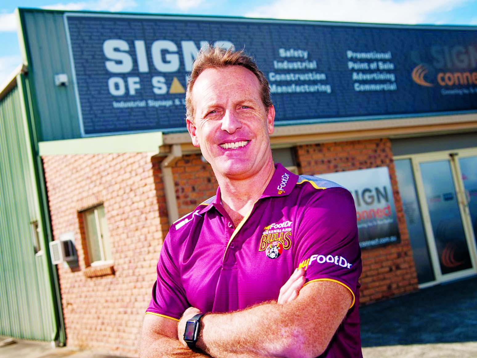 New coach of Queensland Wade Seccombe poses at Brisbane on Friday.