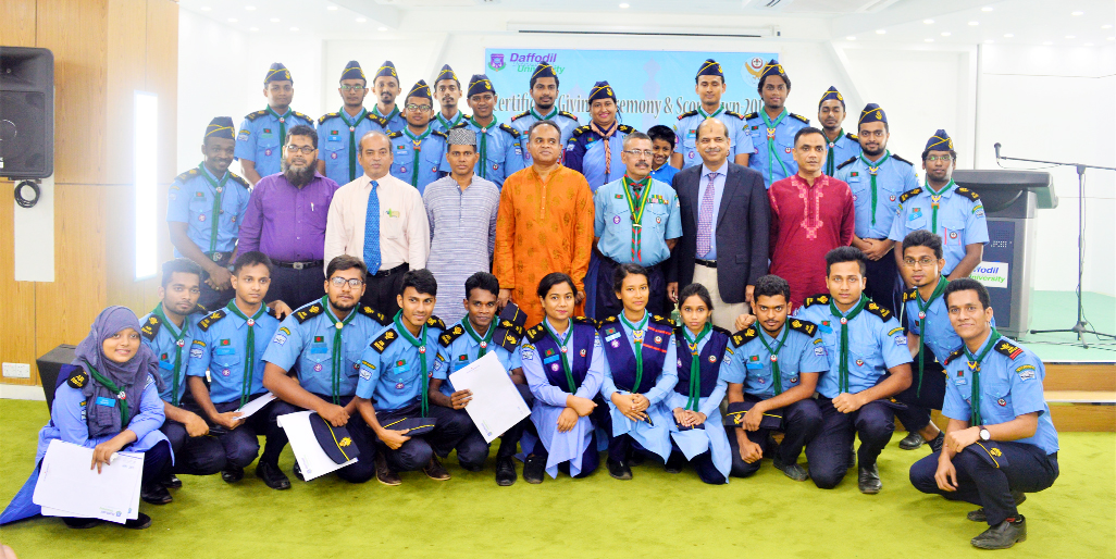 DIU Air Rover Scout Group holds Certificate Distribution Ceremony