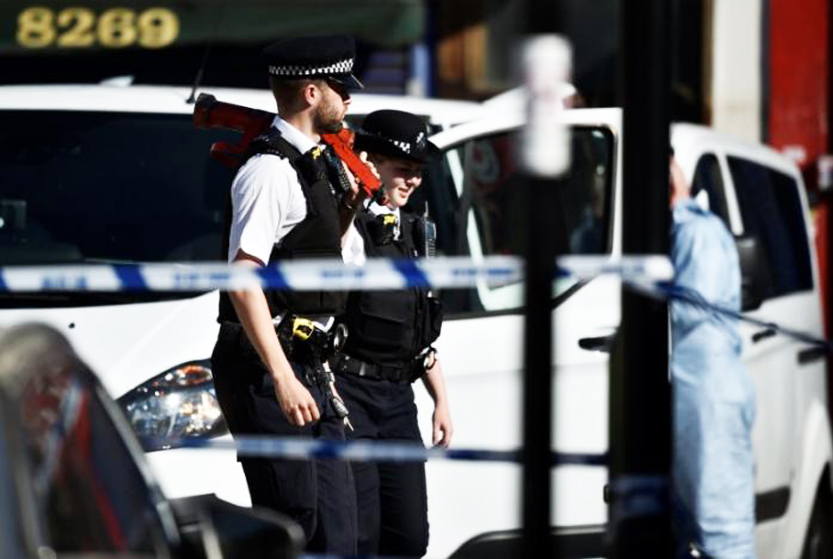 Van rams worshippers leaving London mosque, injuring 10