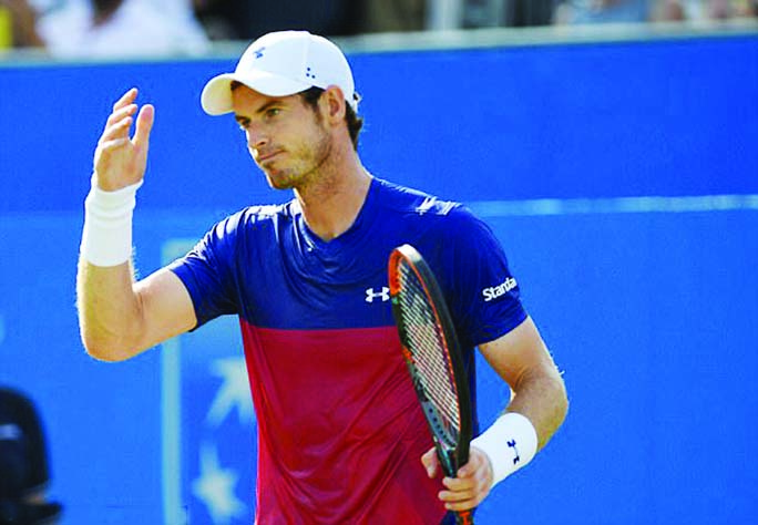 Murray crashed out of Queen's after losing his first round match against Jordan Thompson on Tuesday.