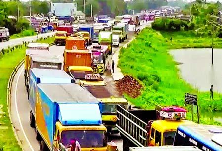 Highways choked