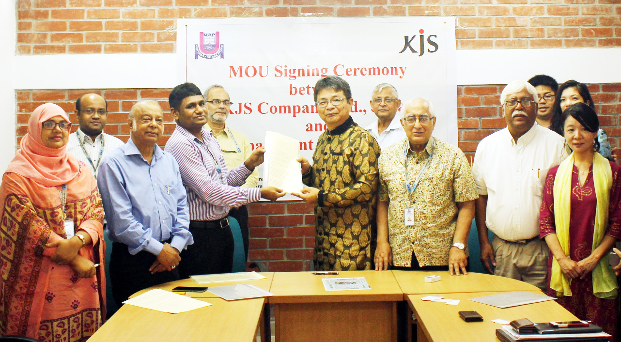 MOU signed between UAP, Japan KJS Compnay