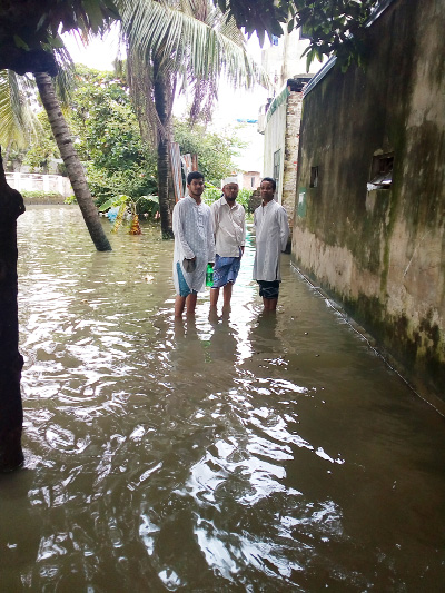 Monsoon rain causes sufferings to city dwellers
