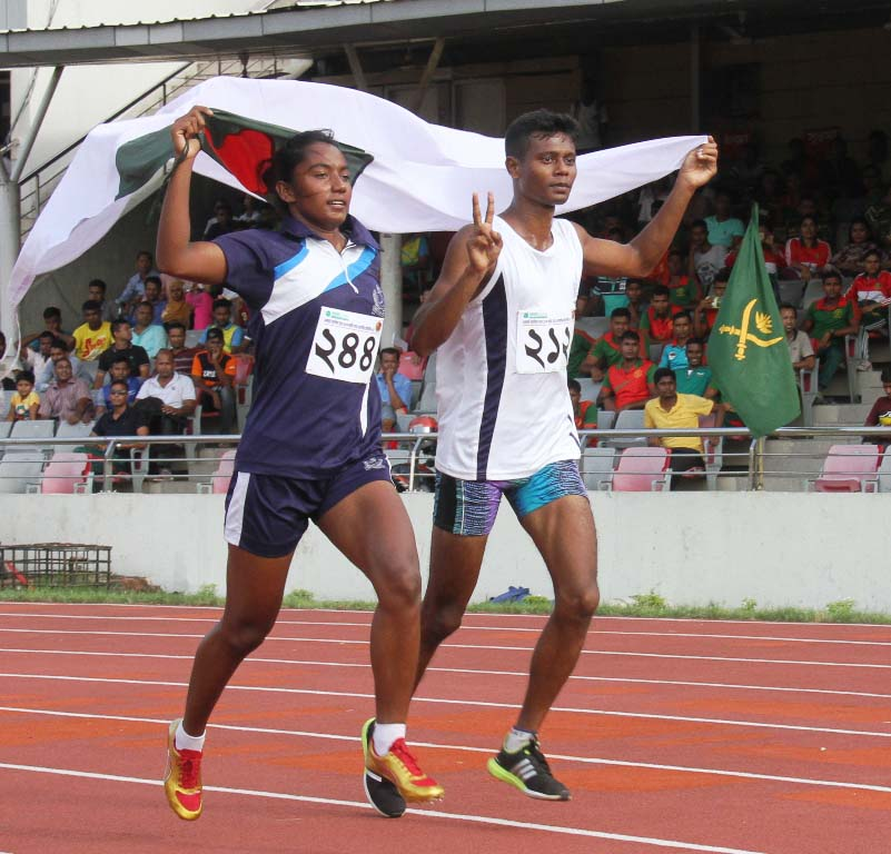 Mesbah, Shirin retain 100-meter sprint crowns