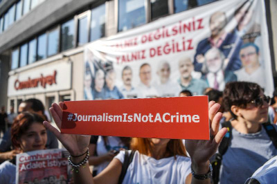 Anti-Erdogan journalists face trial on 'terror' charges