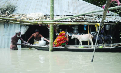 Incessant rain causes flash flood in Rangpur