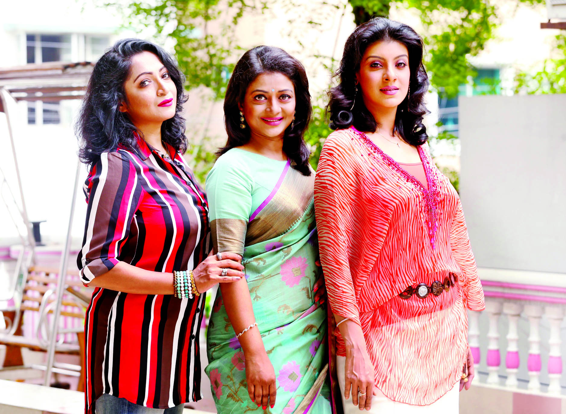 Tania, Sweety, Mou for first time in Eid serial