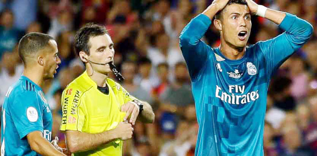Cristiano Ronaldo banned for 5 games after pushing referee