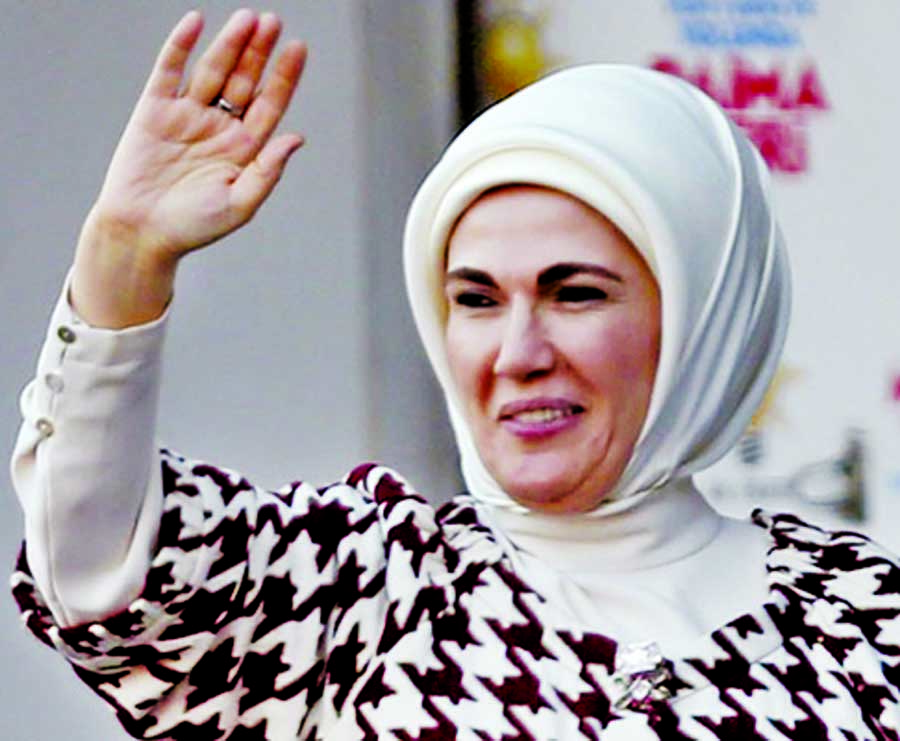 Turkey`s First Lady due today to see plight of Rohingyas