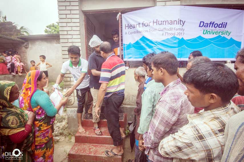 DIU stands by flood victims