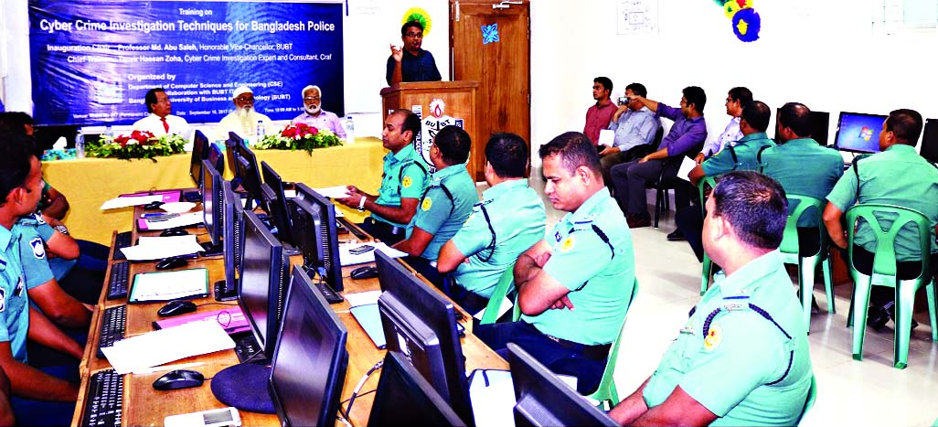 Training on cyber crime investigation held at BUBT