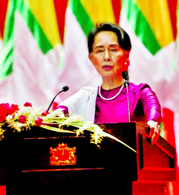 Suu Kyi hides abuses by army