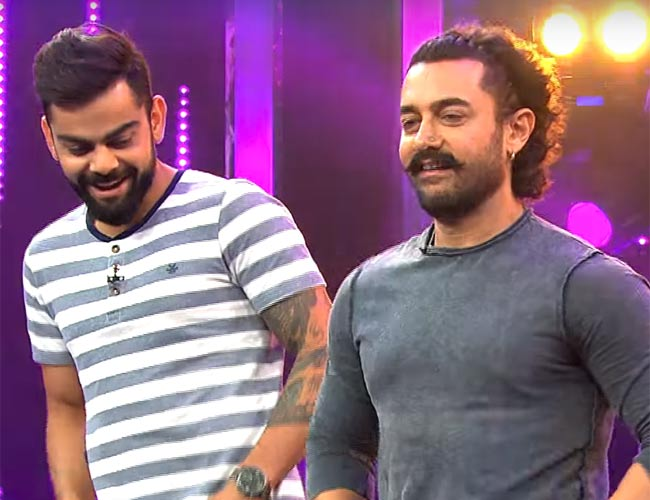 Aamir and Virat revealing some secrets in candid conversation