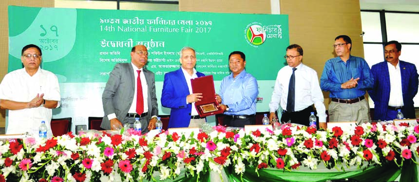 Md. Shafiul Islam, President of   FBCCI, inaugurating the 5-day long 14th National Furniture Fair 2017 at a city convention centre on Tuesday. Bijoy Bhattacharya, Vice -Chairman of the Export Promotion Bureau (EPB)  attends as special guest. Selim H. Rahman , Chairman of Bangladesh Furniture Shilpo Malik Samity presided.