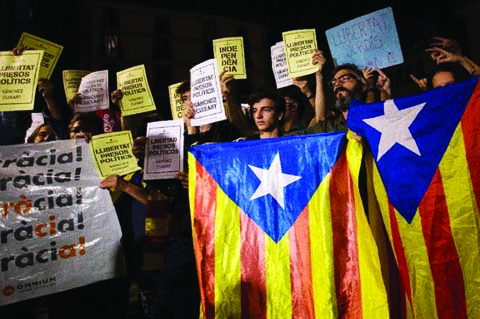 Catalonia braces for protests as key separatists held