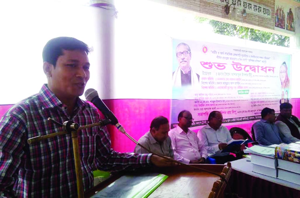 KISHOREGANJ: Torafder Md Akhter Jamil, Acting Deputy Commissioner speaking at a  three day-long orientation course at  Shiddheswasi Kalibari Complex as Chief Guest  organised by Hindu Kalyan Trust and  Ministry of Religious Affairs  on Thursday noon.