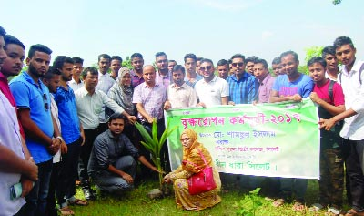 SYLHET: Students of Dakkhin Surma Degree College, Sylhet starts plantation programme organised by  Shadhin Dhara, Sylhet, a social organisation recently.