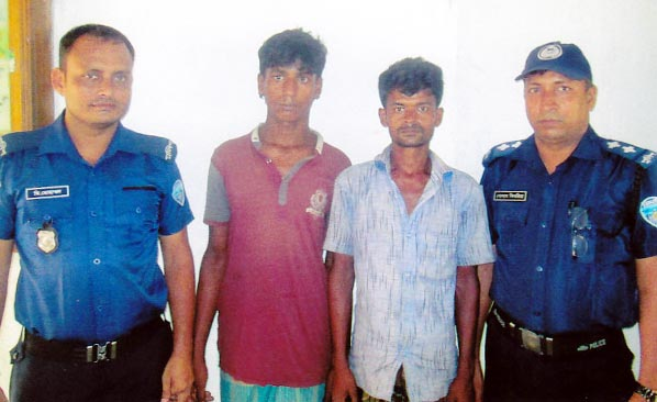 Satkania Than police arrested two Rohingyas from Karanihat area  after treatment sent them to Cox's Bazar Rohingya Camp on Thursday.