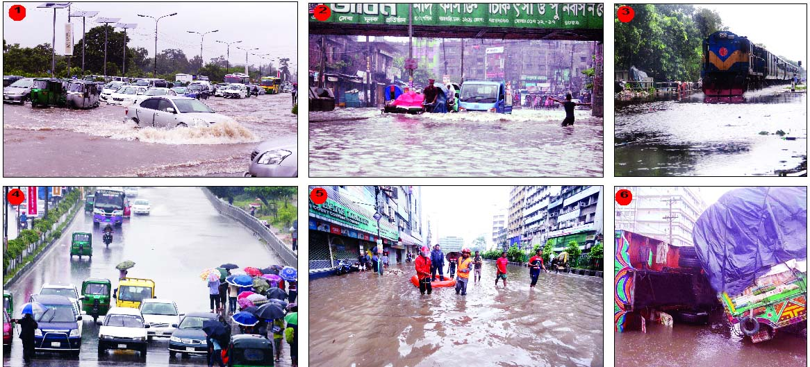SNAPSHOTS ON FLOOD SITUATION IN CITY