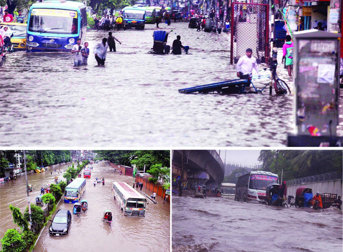 Rains cripple life in city, elsewhere