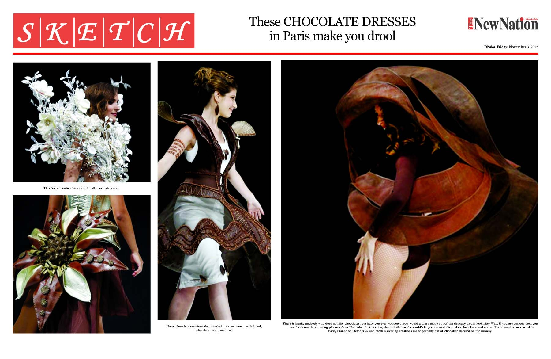 These CHOCOLATE DRESSES  in Paris make you drool