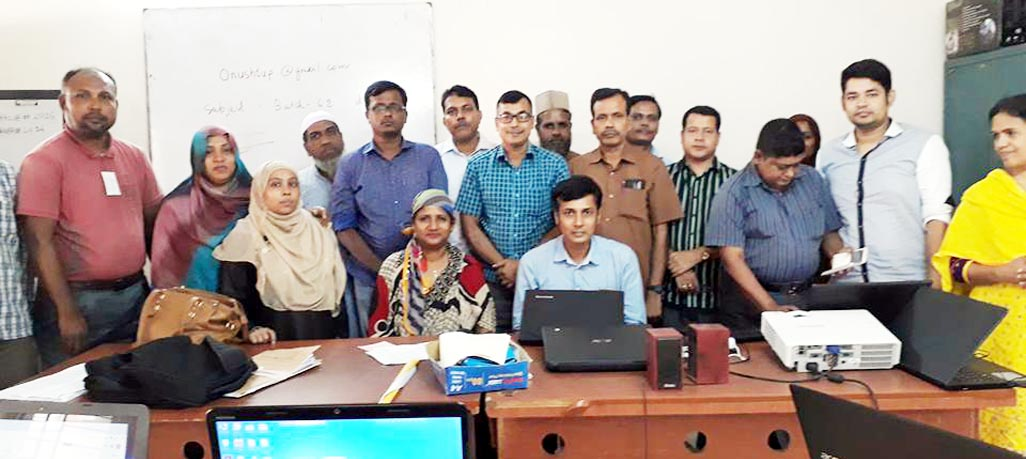 Participants in an ICT Training session under TQI-II inaugurated on Saturday at Dhaka Teachers' Training College in the city.