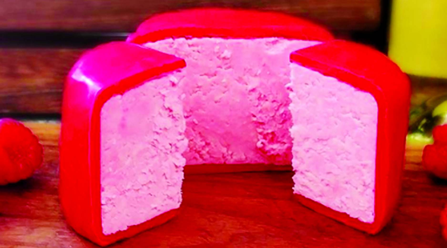 Pink cheese is the latest thing to get foodies all excited