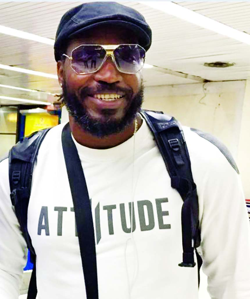 Chris Gayle arrived in the city on Thursday to play for Rangpur Riders in the ongoing AKS Bangladesh Premier League (BPL) Twenty20 Cricket.