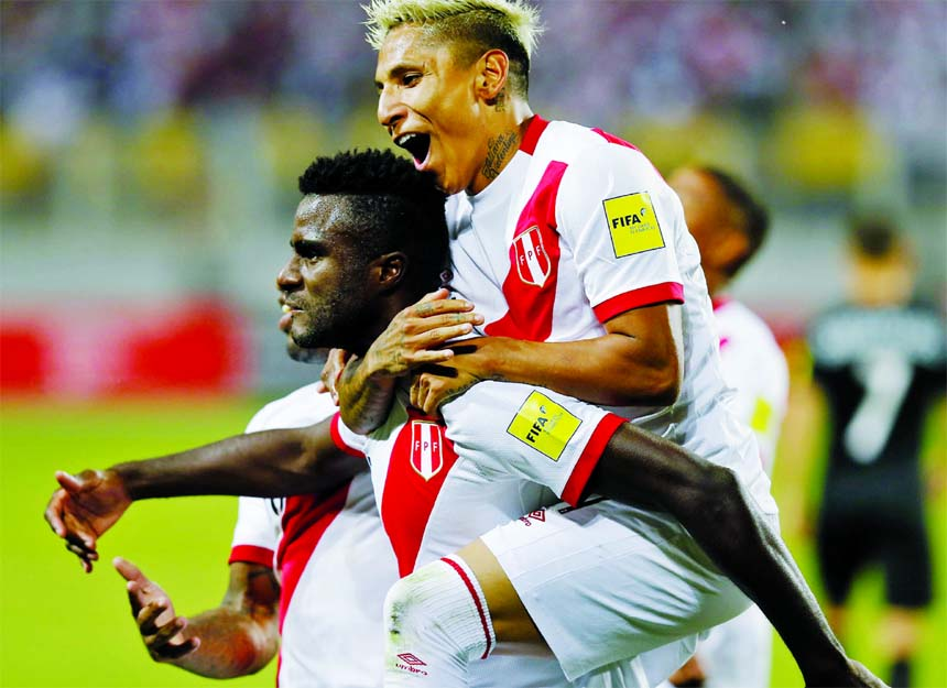 Peru beat New Zealand 2-0 to capture last World Cup berth