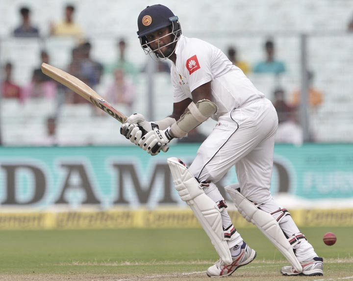 Thirimanne steers Sri Lanka to 113-2 in India Test