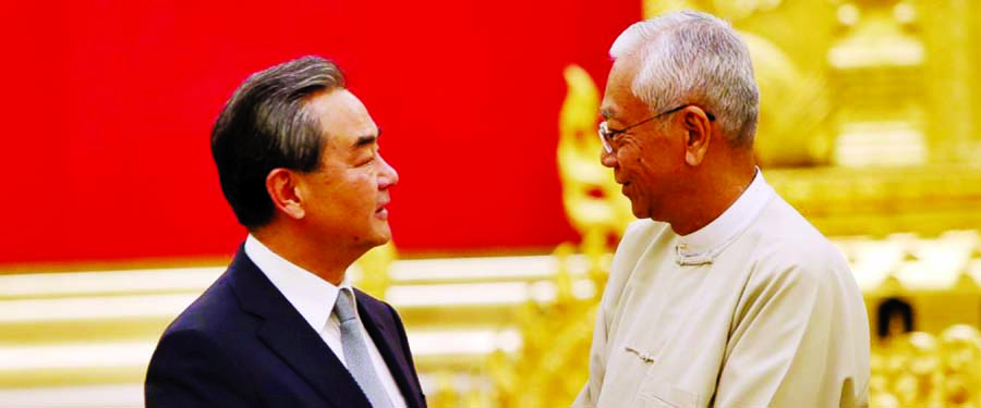 China`s FM meets with Myanmar leaders