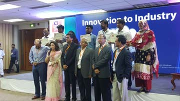 AIUB student awarded in ICT Expo