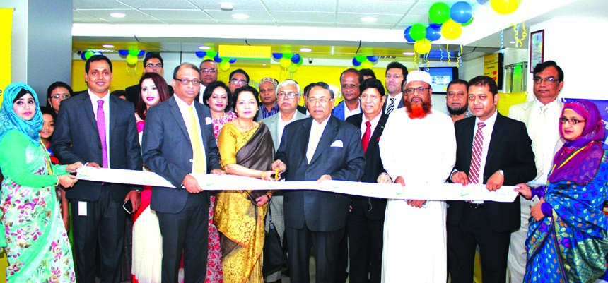Mir Nasir Hossain, Director of Eastern Bank Limited, inaugurating its 84th branch at city's Begum Rokeya Sarani in Shewrapara on Wednesday. Ali Reza Iftekhar, Managing Director, Hassan Or Rashid, ADM, M Nazeem Anwar Choudhury, Head of Consumer Banking and other senior officials of the bank were present.