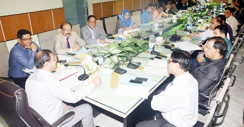 CCC Mayor A J M Nasir Uddin speaking at a meeting of  City Development Coordination Committee( CDCC) at CCC Conference Room on Monday.