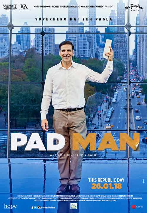 Akshay in new poster of PadMan sheds light on some important facts about menstrual health