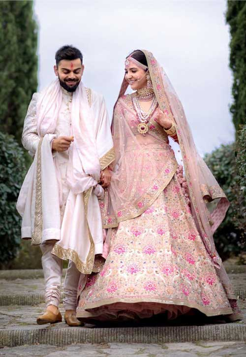 Congratulations to Virat and Anushka for getting married