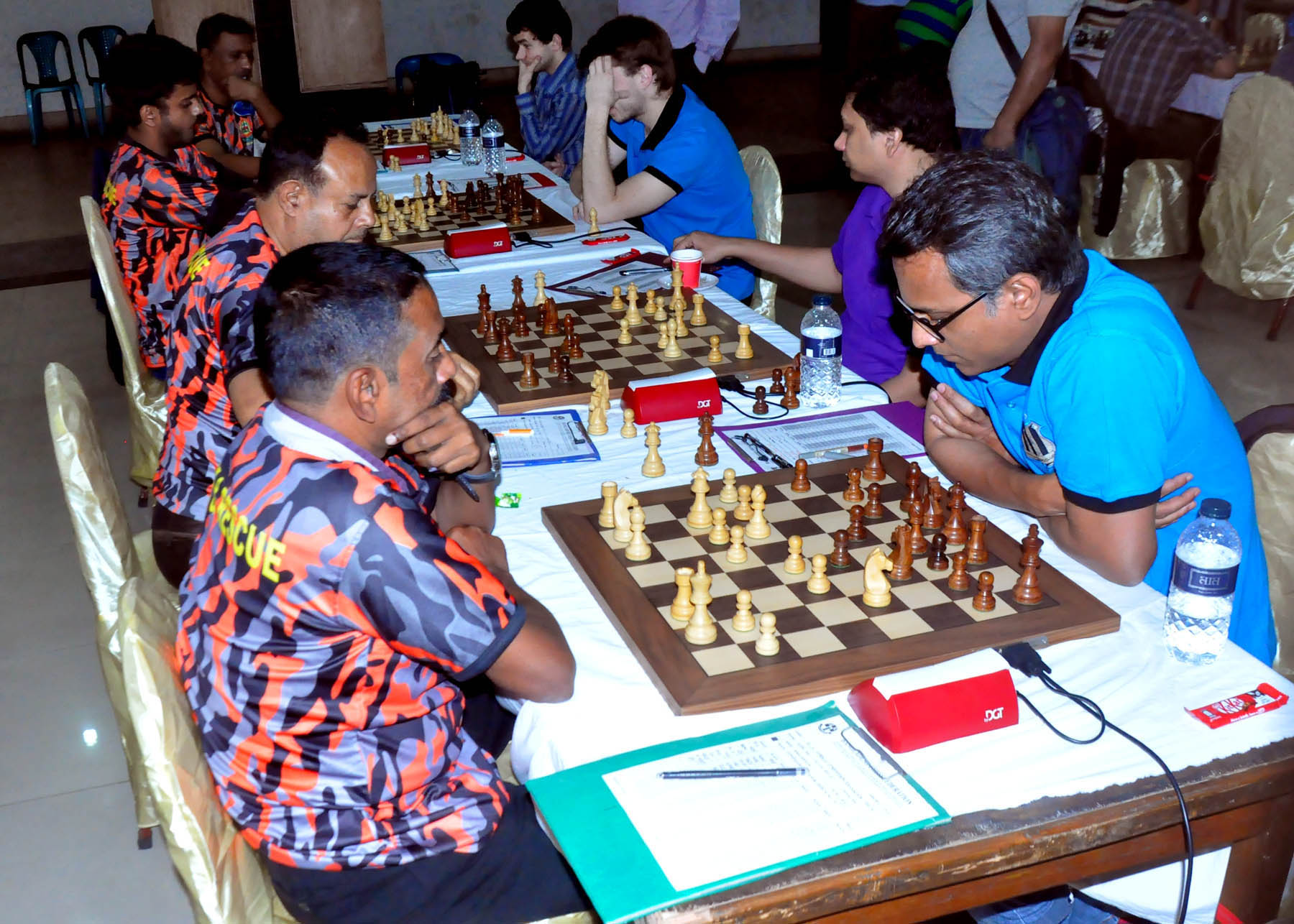 A scene from the SA Group Premier Division Chess League at the Auditorium of the National Sports Council Tower on Tuesday.