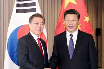South Korean President in China to repair ties