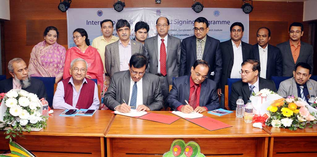 Director General of Bangladesh Fish Research Institute (BFRI) Dr. Yahhiya Mahmud was present as Chief Guest at the MOU signing ceremony at Chittagong Veterinary and Animal Science University (CVASU) students departments of fisheries on Internship Feedback on Tuesday at the auditorium of CVASU. Vice Chancellor of CVASU Dr. Goutam Buddo Das  was also present at the  ceremony. Dean  of Departments of Fisheries Prof Dr M Nurul Afser presided over  the ceremony.