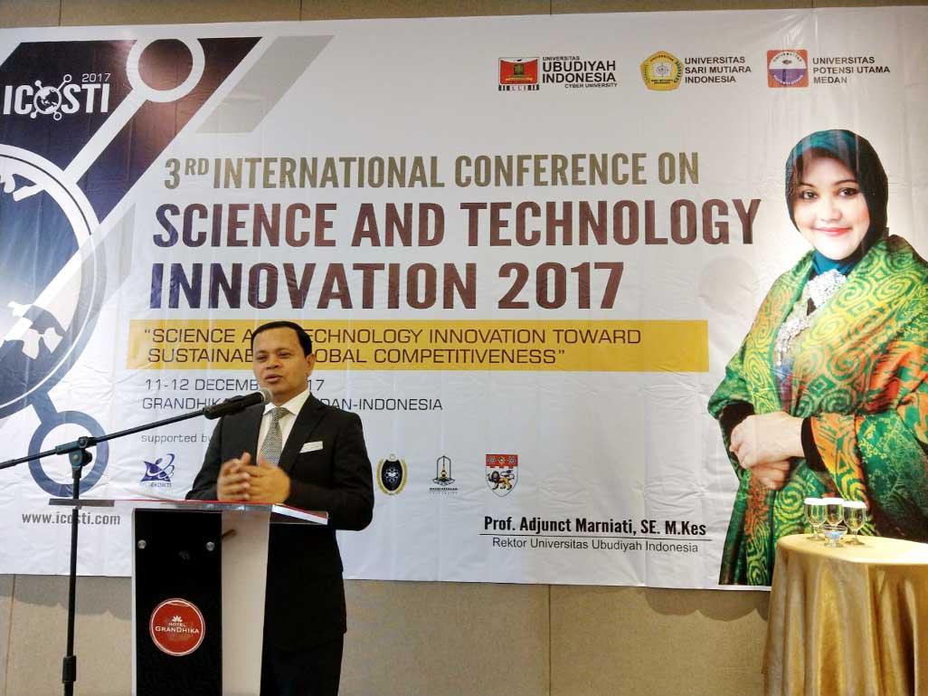 DIU Chairman presents keynote speech at ICOSTI, Indonesia